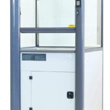 Vitrina de gases móvil con filtro y recirculación