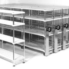 Estanterías deslizantes de acero inoxidable High Density