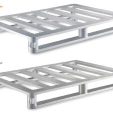 Palets de acero inoxidable y aluminio